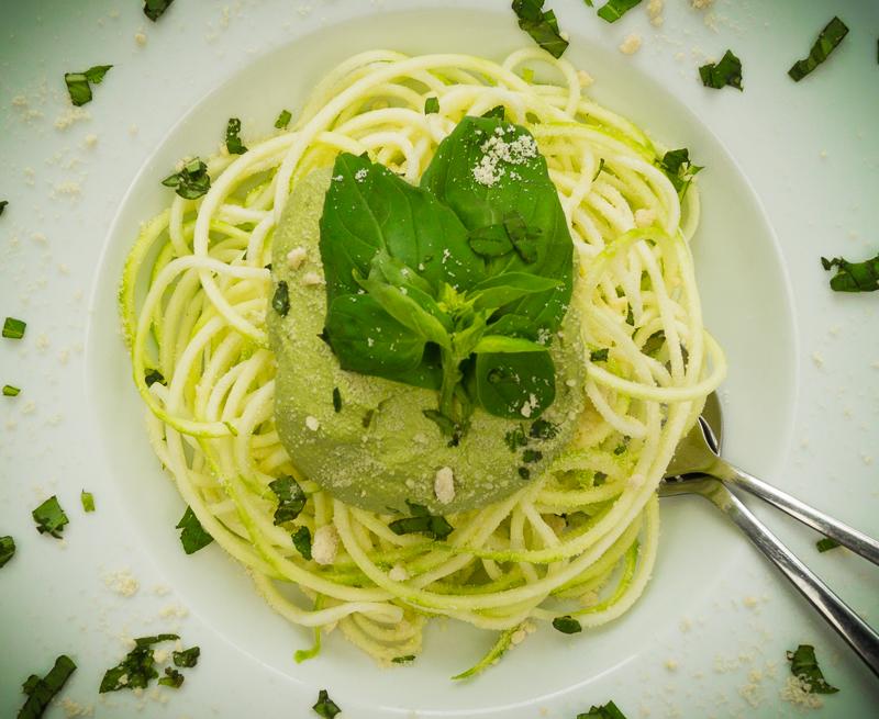 Zucchini Spaghetti Basilikum Pesto_2